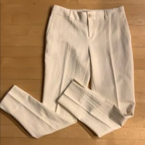 *4/25. Banana republic cream pants. 0
